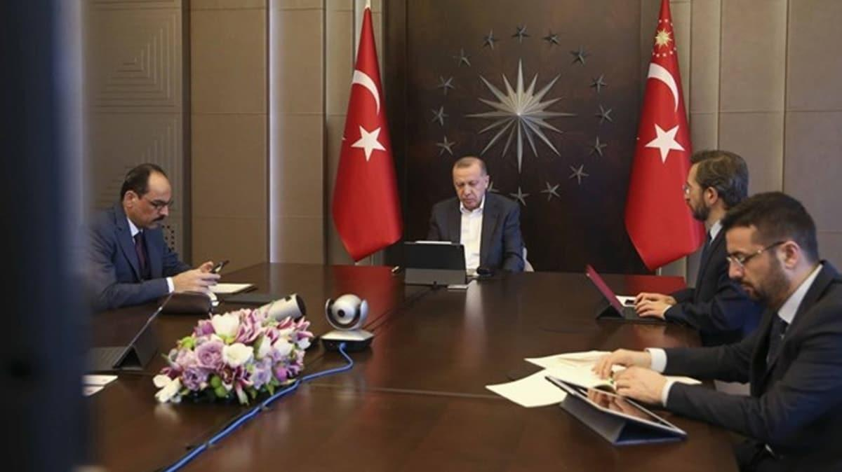 Başkan Erdoğan Mit Başkanı Hakan Fidan'la görüştü