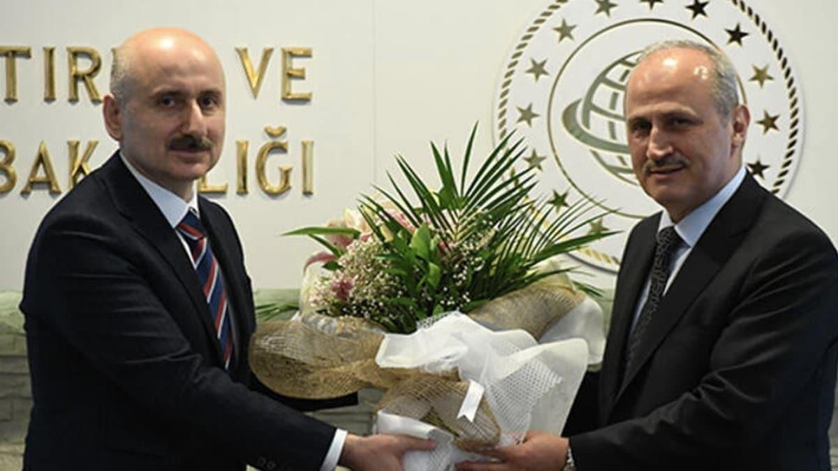 Ulaştırma ve Altyapı Bakanlığında devir teslim töreni tamamlandı