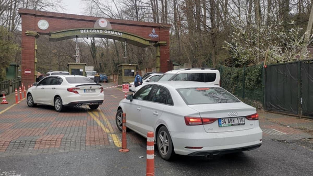 Koronavirüs tedbirlerine aldırmayarak Belgrad Ormanı'na gelenler kapıdan döndürüldü