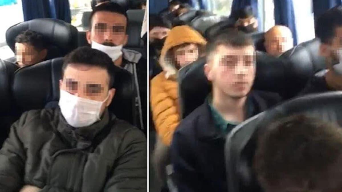 Şehirler arası otobüs yolculuğu yasağına uymadılar! Otobüsteki 46 kişiye ceza ve 14 gün karantina