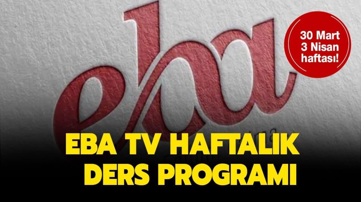 EBA TV yeni ders programı yayınlandı!