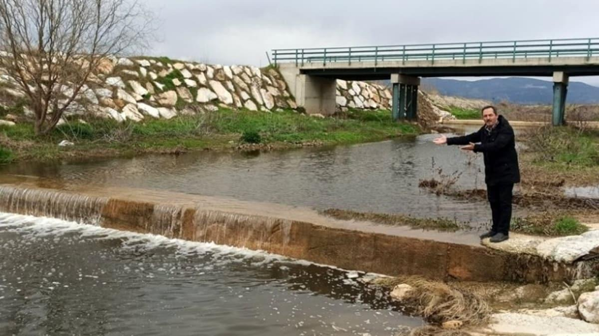 Ödemişte yağış barajların su seviyesini artırdı