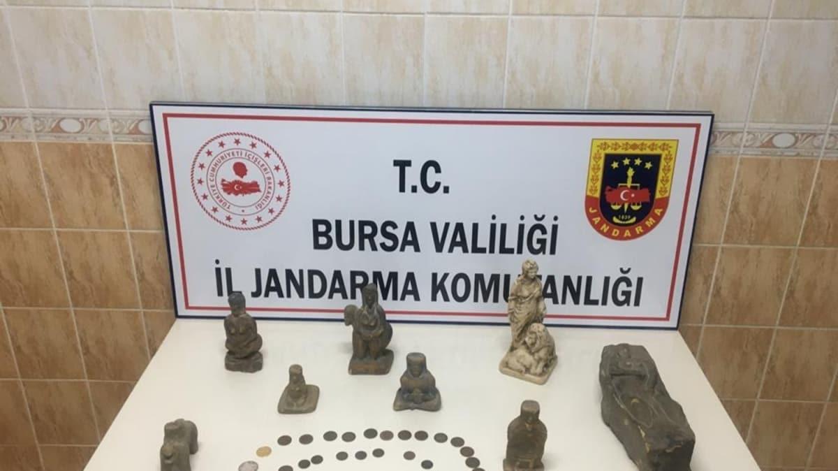 Bursa'da tarihi eser operasyonu: 4 gözaltı