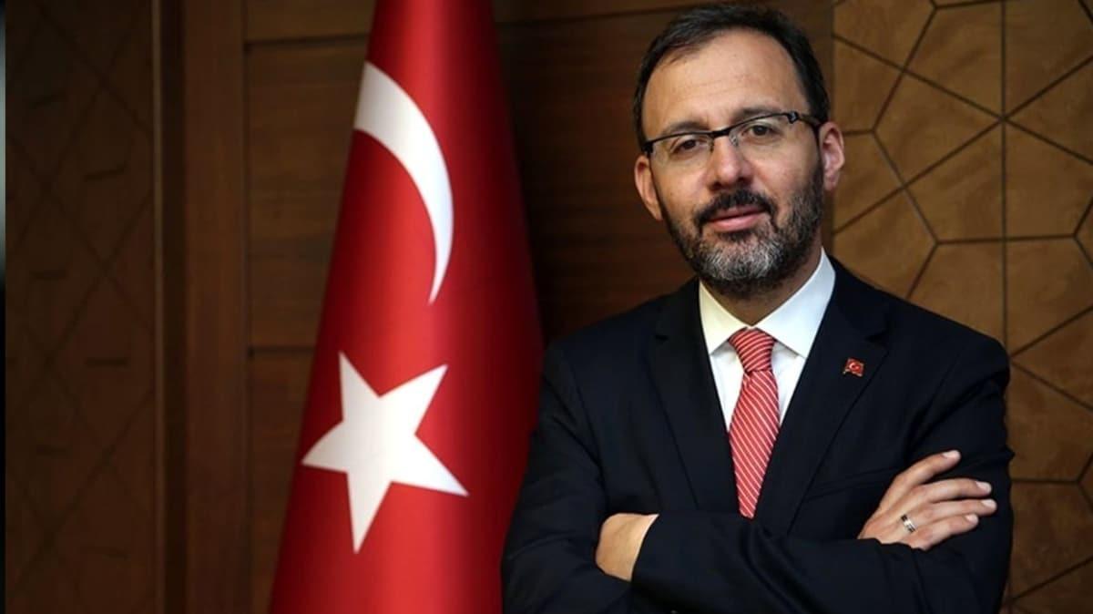 """Gençlik ve Spor Bakanı Kasapoğlu'ndan """"hareketsiz kalma"""" çağrısı"""