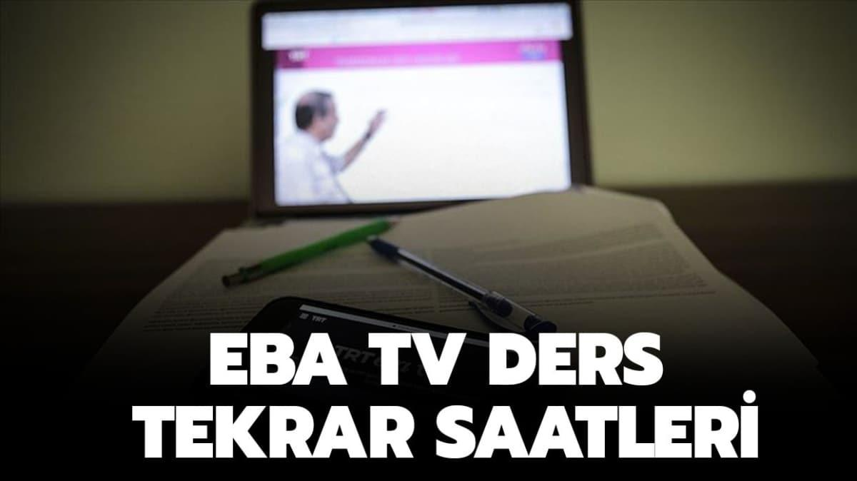 """EBA TV ders tekrarı ne zaman"""""""