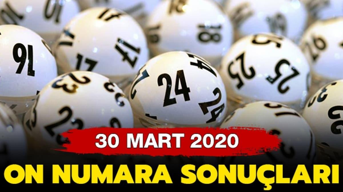 On Numara 30 Mart 2020 sonuçları