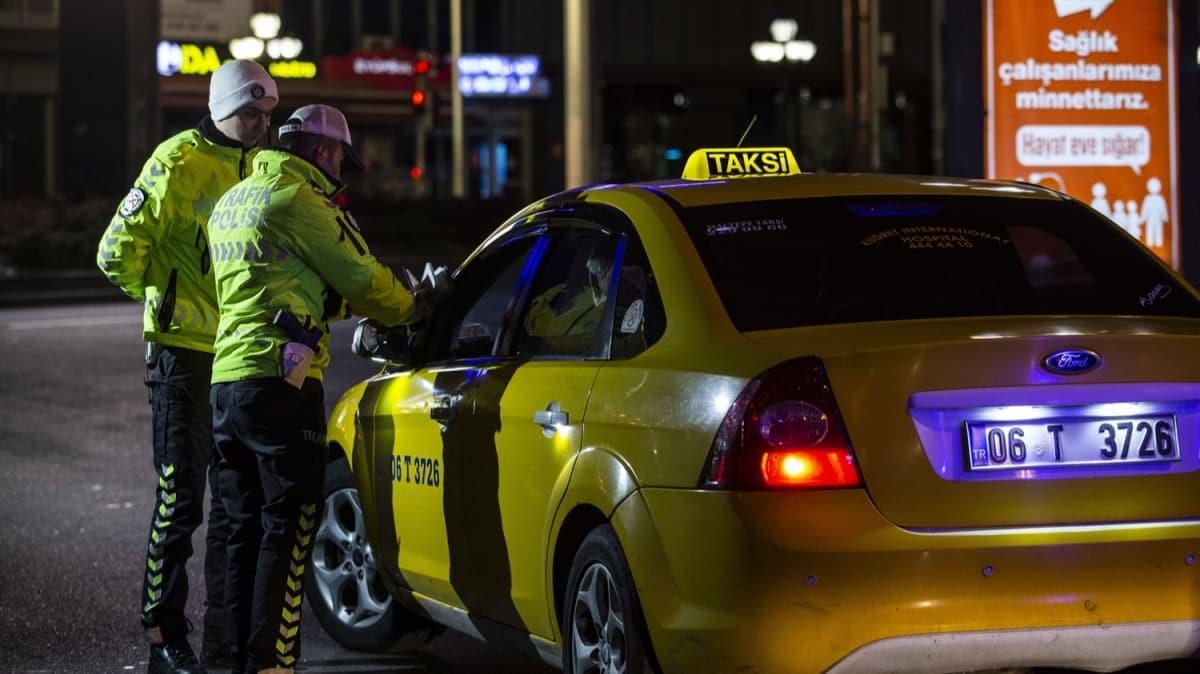 Gece 00:01'de başladı! Başkentte plaka sınırlama uygulamasını ihlal eden taksiciye ceza kesildi