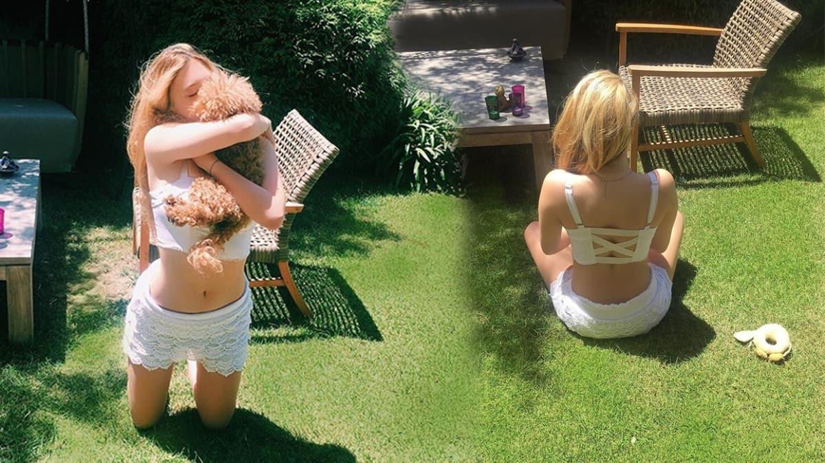 Yasmin Erbil'den bahçede karantina pozu! Dikkatleri üzerine çekti