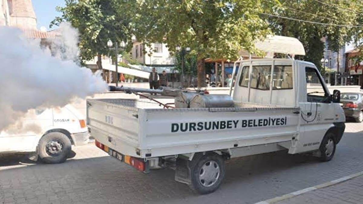 Dursunbey Belediyesi koronavirüsle savaşmak için 'Köpük timi' kurdu