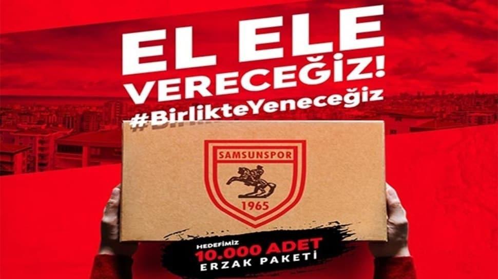 Samsunspor'dan 10 bin aileye yardım kampanyası