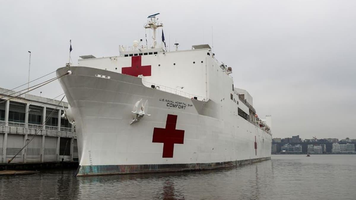 New York'a ilaç olması beklenen Comfort hastane gemisiyle ilgili skandal iddia