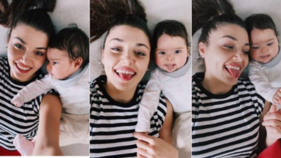 Hande Erçel ve yeğeninin sempatik halleri sosyal medyaya damga vurdu!