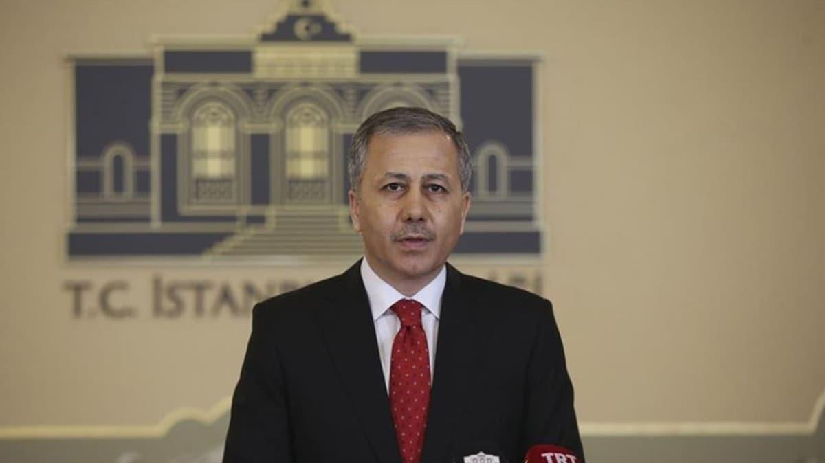 İstanbul Valisi Yerlikaya'dan sokağa çıkma yasağı açıklaması