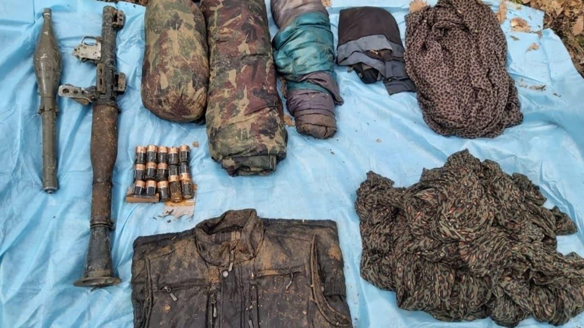 Bingöl'de, teröristlerin mühimmat ve malzemeleri ele geçirildi