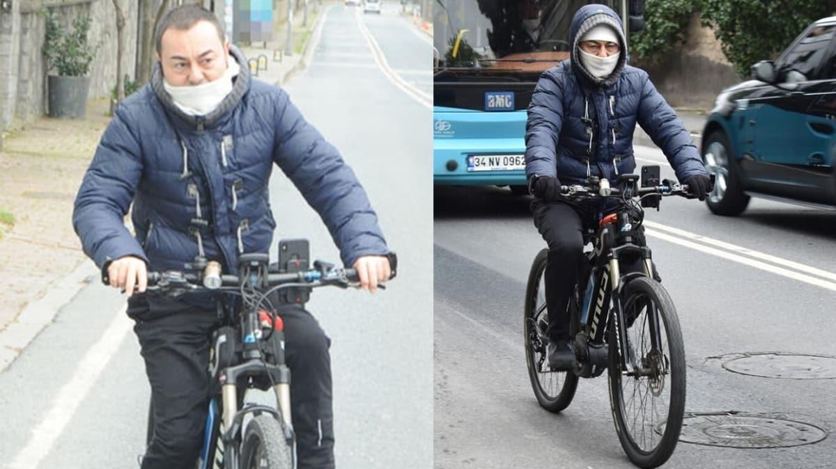 Serdar Ortaç bisikletiyle yollarda: Yalnızım, mutluyum!