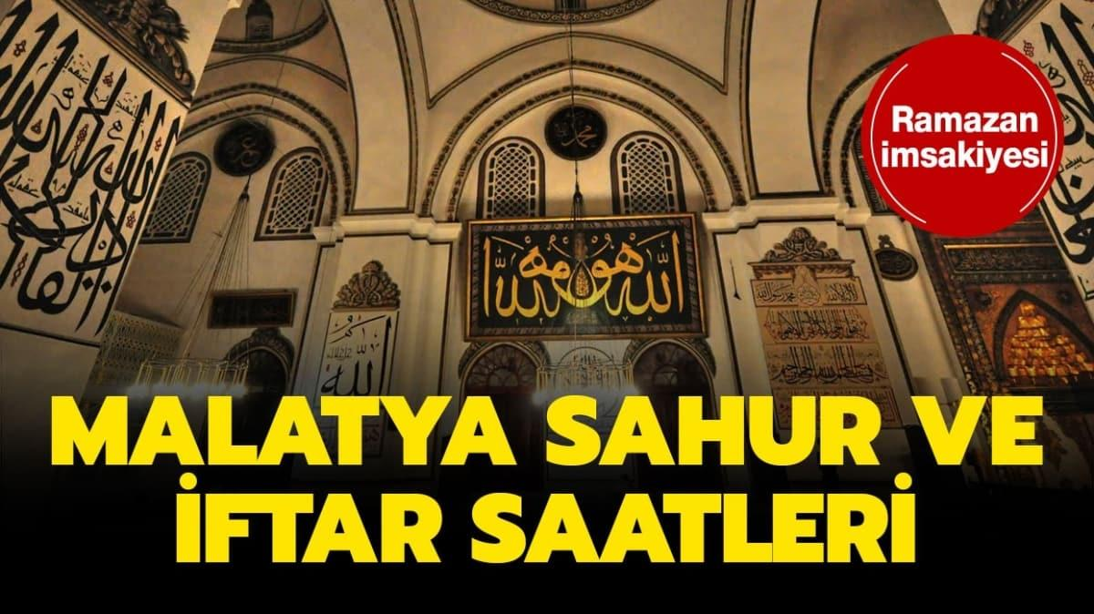"Malatya iftar, imsak ve sahur vakti saat kaçta"""