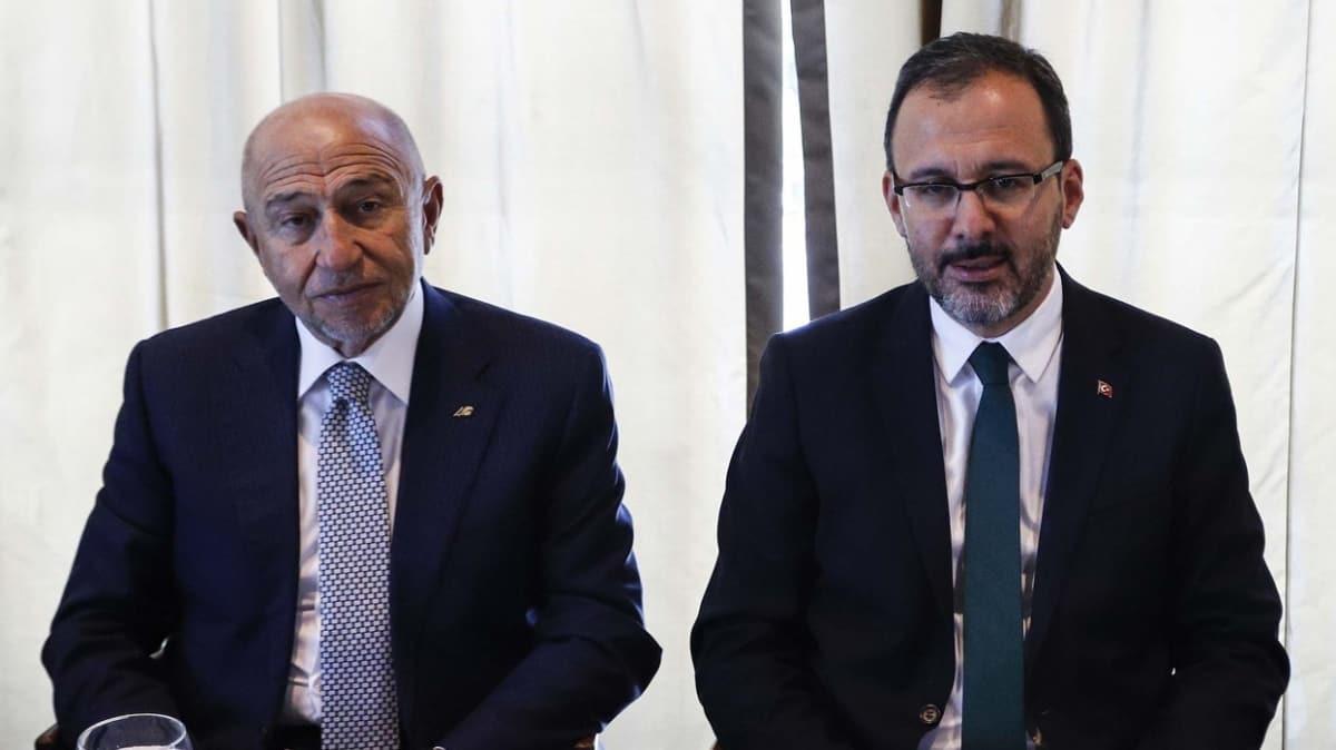 Bakan Kasapoğlu; Nihat Özdemir, Mehmet Sepil ve kulüp başkanlarıyla görüşecek