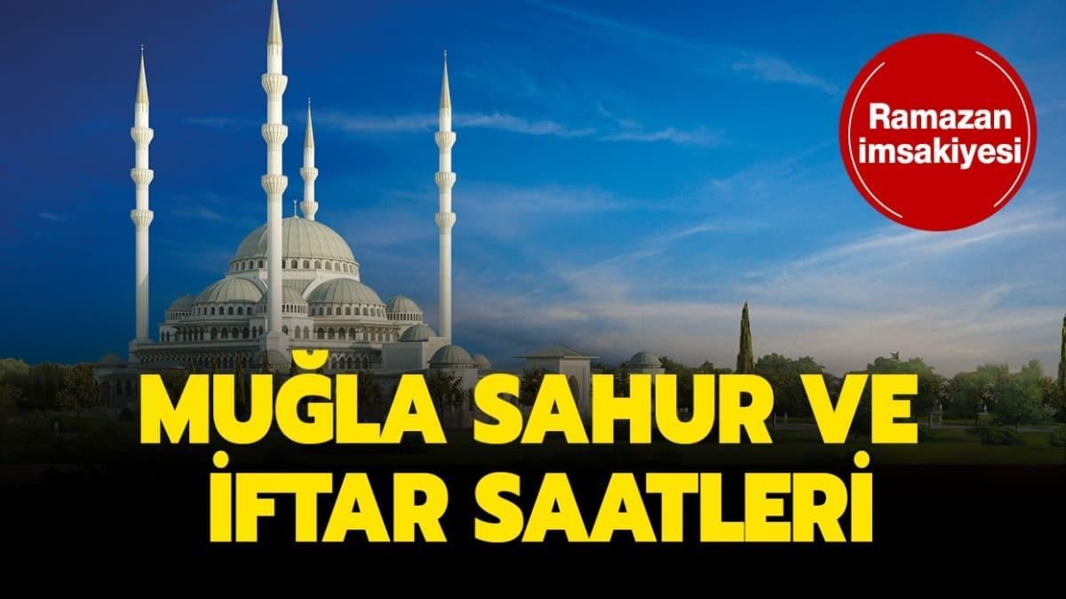 "Diyanet Muğla iftar, sahur ve imsak imsak vakti saati kaç"""