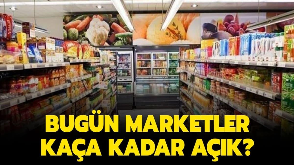 """24 Nisan'da marketler kaça kadar açık"""""""