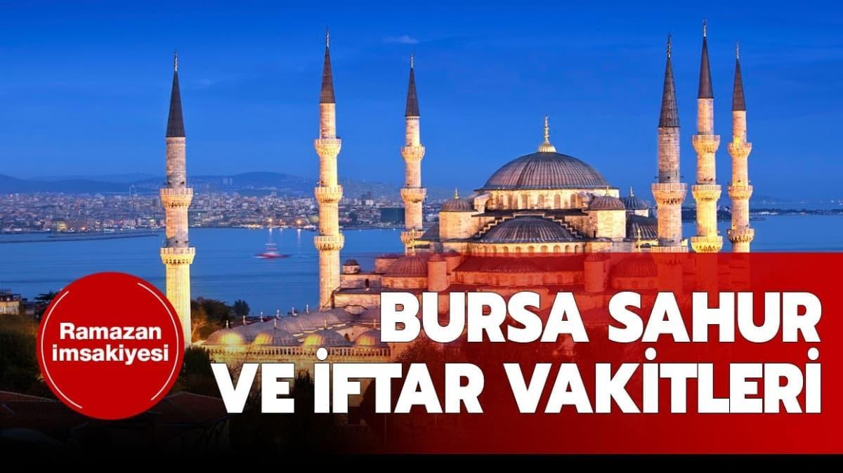"Bursa iftar vakti saati kaçta"""