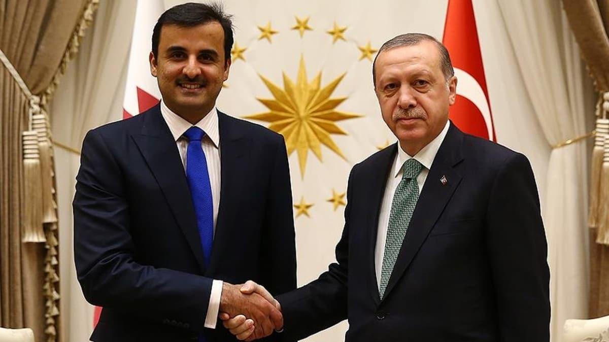 Başkan Erdoğan, Katar Emiri Al Sani ile telefonda görüştü