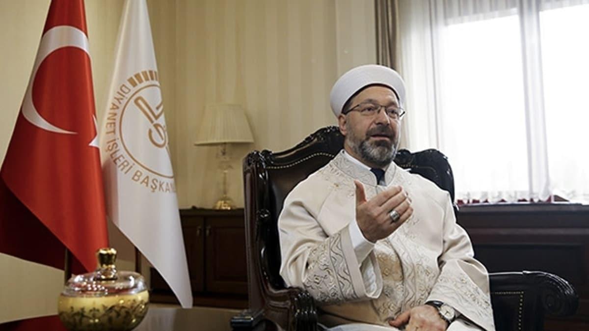 Diyanet İşleri Başkanı Ali Erbaş 61 bin imam ve görevlinin Vefa Sosyal Destek Gruplarında çalıştığını söyledi