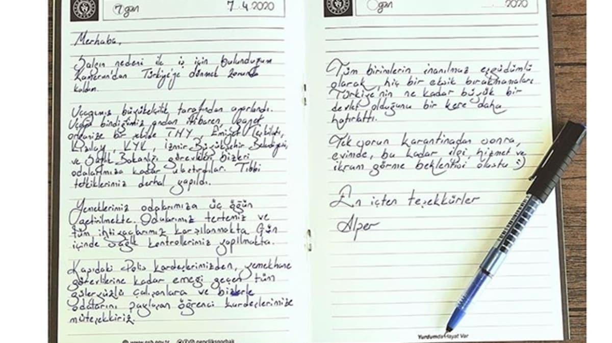 Karantinanın ardından yurtlarda duygulandıran mektupları kaldı... İçtiği çayın parasını bıraktı