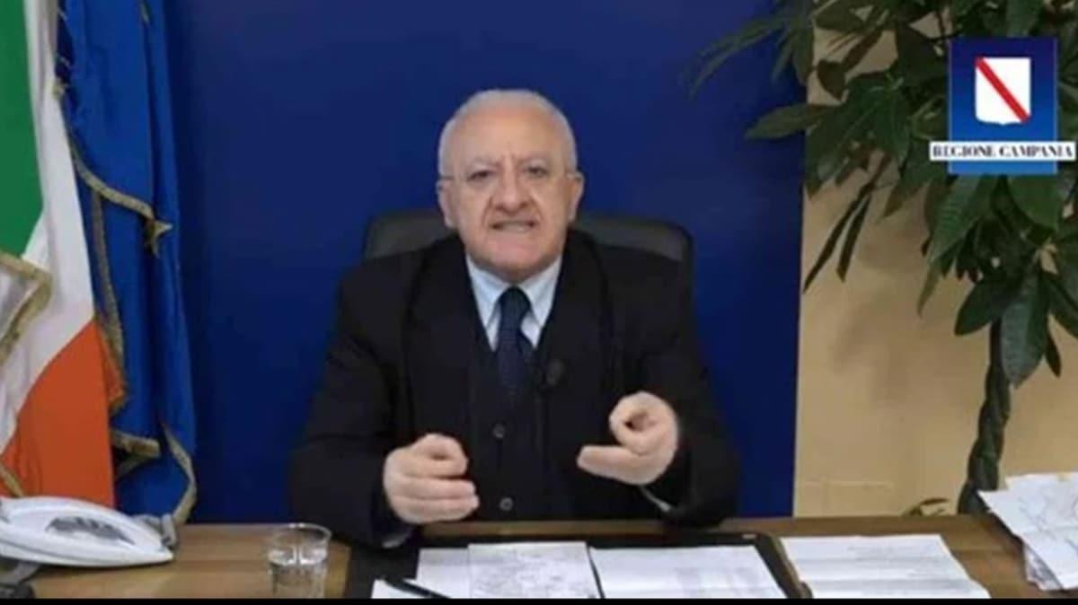 İtalyan Belediye Başkanı Vincenzo De Luca'dan sokağa çıkmak isteyenlere 'efsanevi cevap'