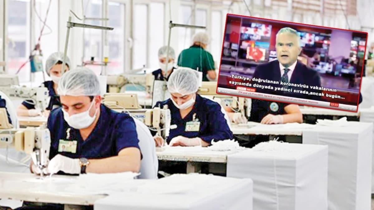 Maske ve önlük üretimi BBC'de: İngiltere, Türkiye gibi yapamadı