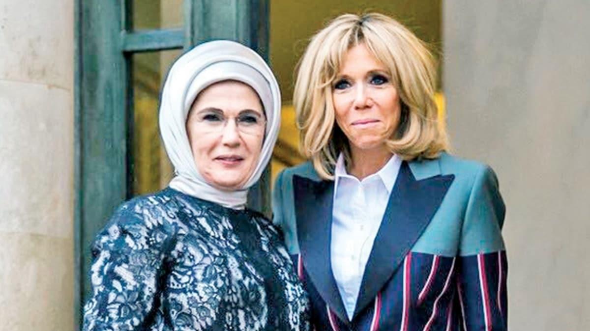 Brigitte Macron'dan Emine Erdoğan'a teşekkür