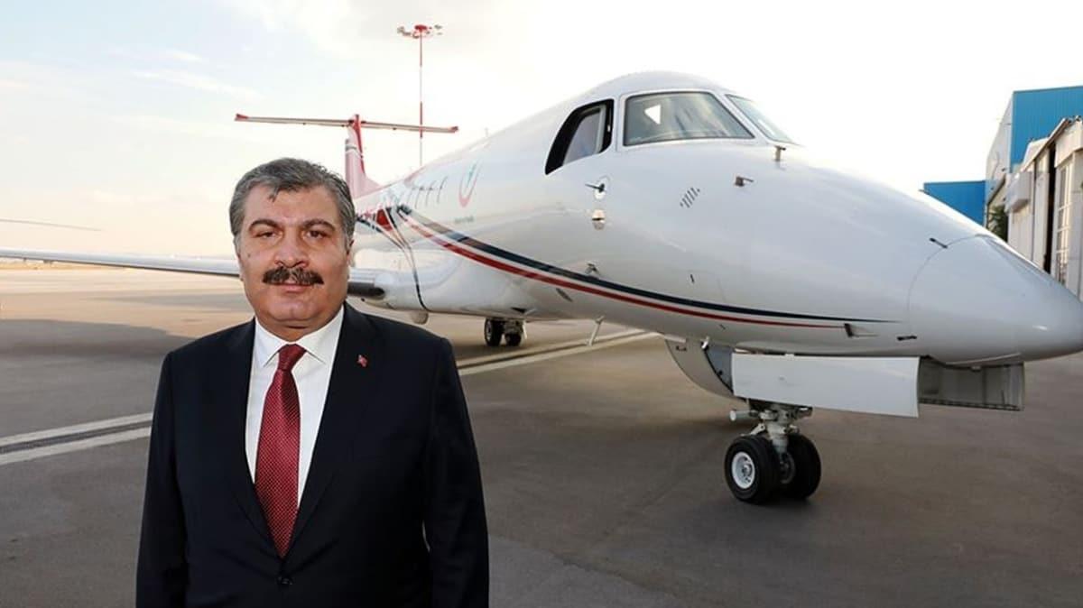Bakan Koca'dan 'hava ambulans hizmeti' açıklaması