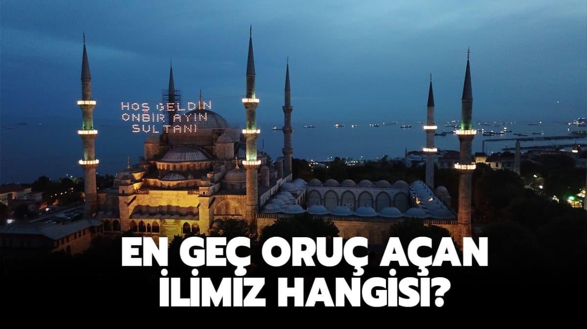 """Türkiye'de oruç en geç hangi ilimizde açılıyor"""" En geç oruç açan ilimiz hangisidir"""" Yanıtı haberimizde..."""