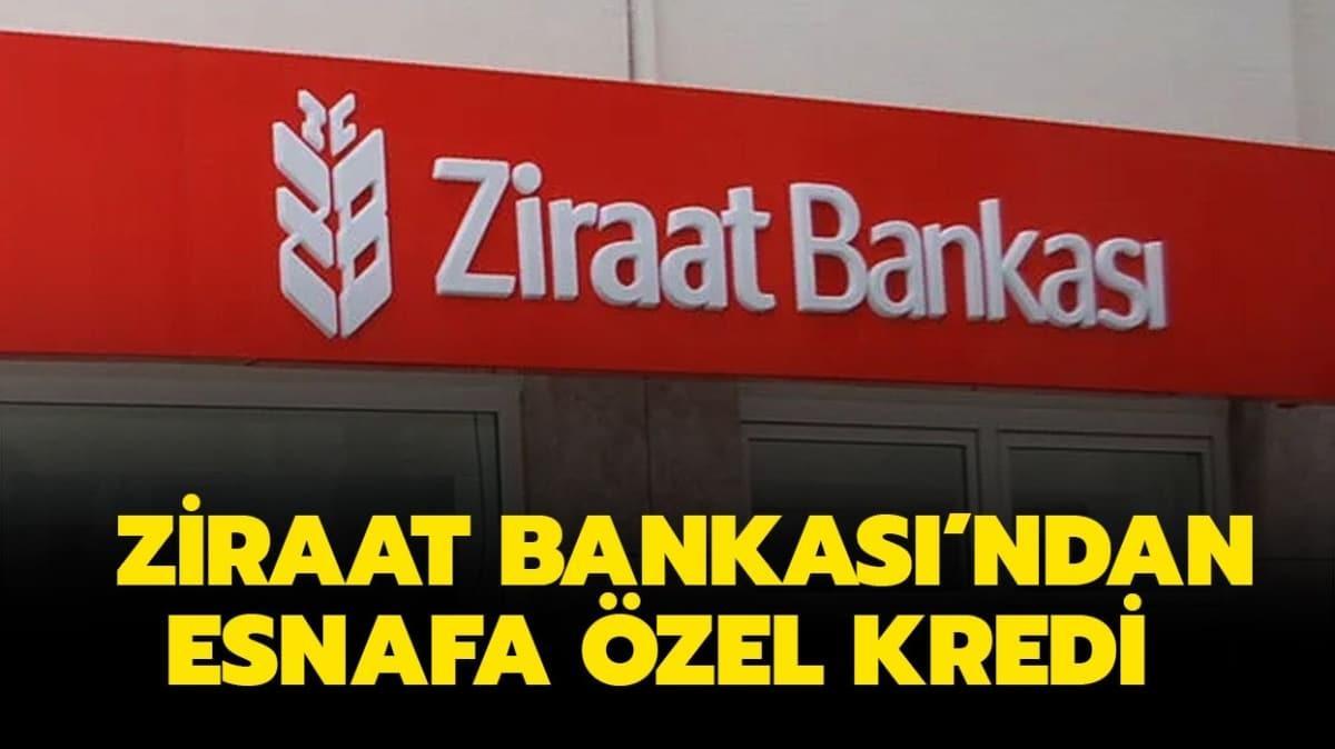 Ziraat Bankası'ndan esnaf kredisi