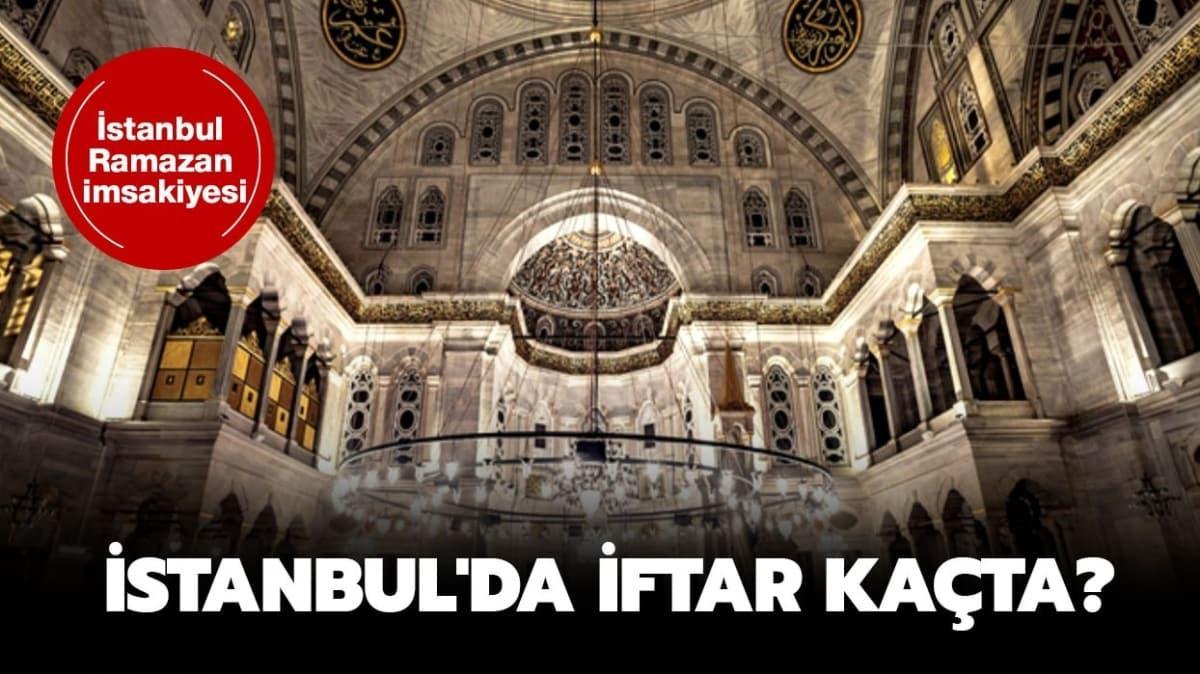 """İstanbul'da iftar vakti kaçta"""""""
