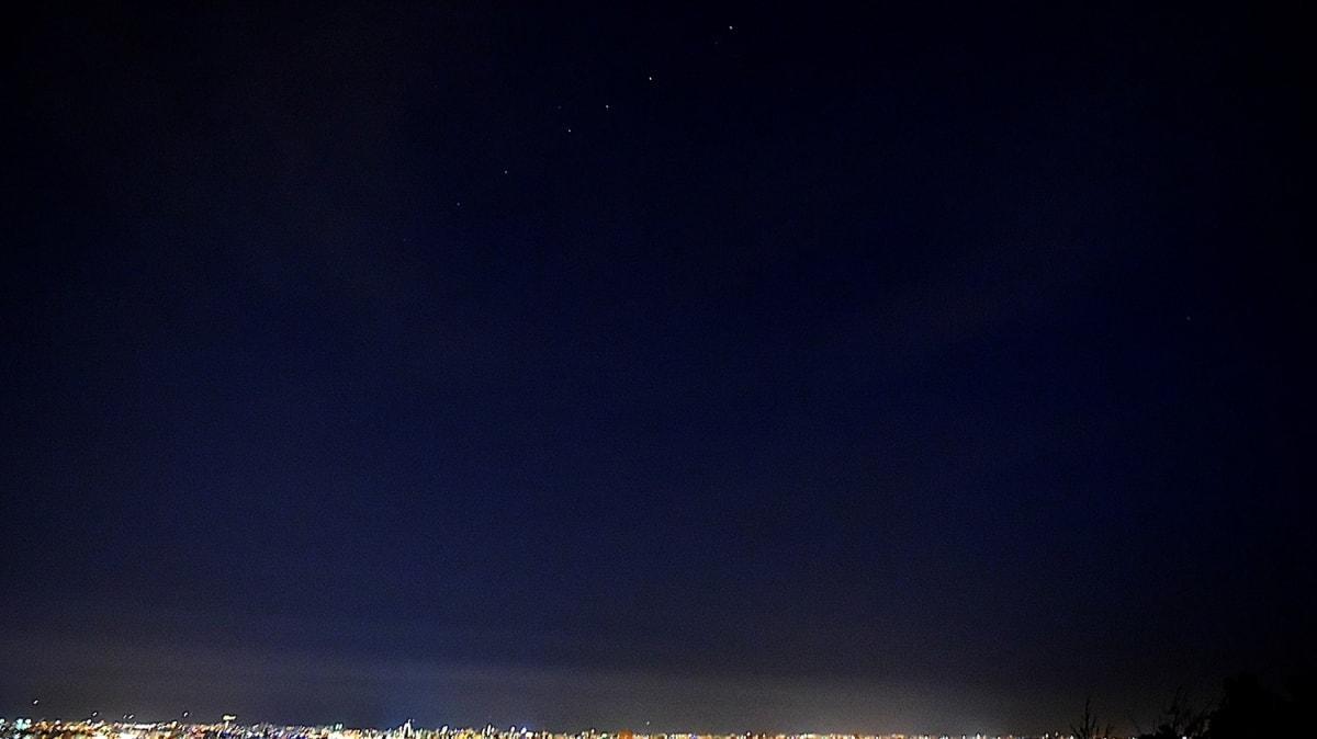 Starlink uydularının geçişi Türkiye semalarından izlendi