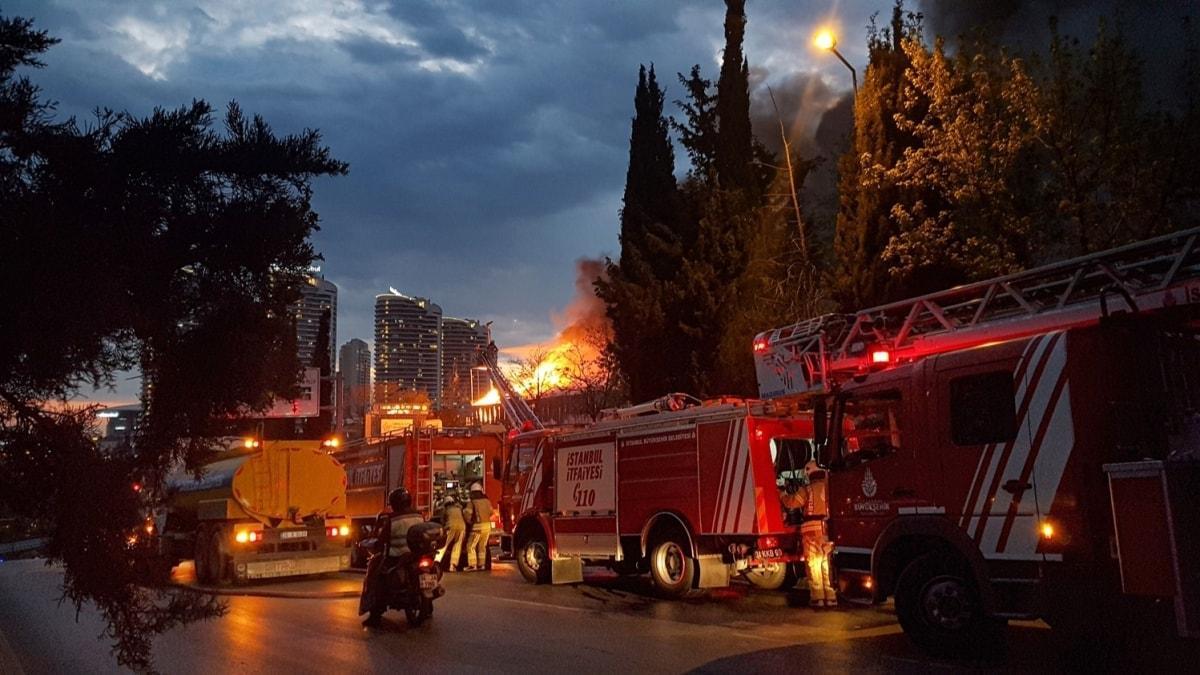 İSTOÇ'ta korkutan yangın! Çok sayıda ekip sevk edildi