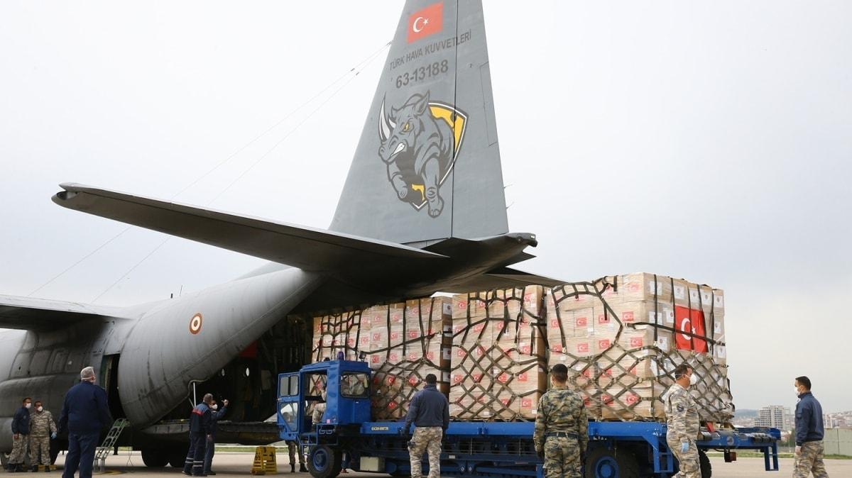 Tıbbi malzemelerin bulundu ikinci askeri kargo uçağı ABD'ye hareket etti