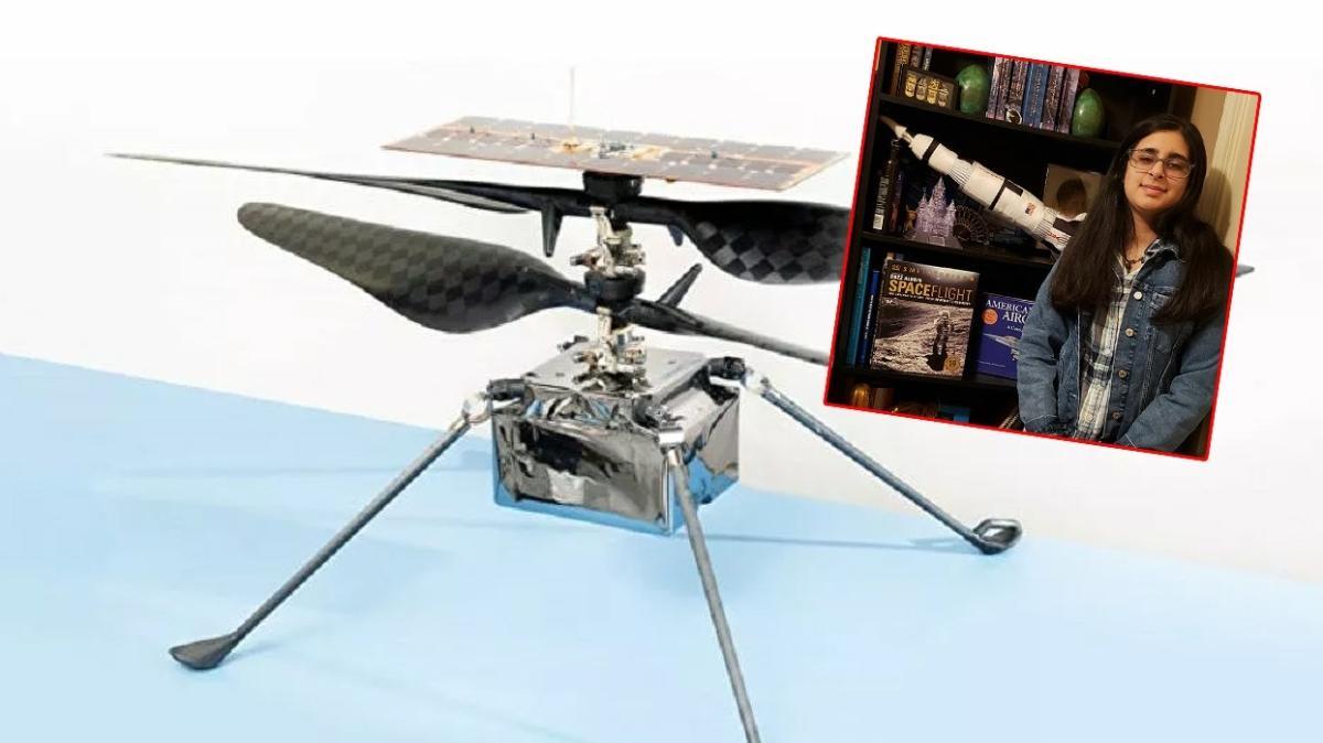 NASA'nın Mars'a göndereceği helikoptere ismini lise öğrencisi verdi