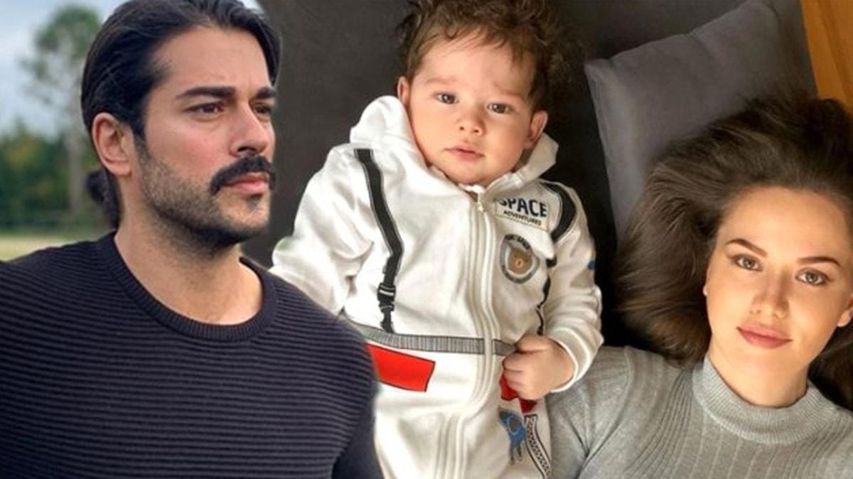 Burak Özçivit ve Fahriye Evcen'in oğlu Karan'ın fotoğrafına yorum ve beğeni yağdı