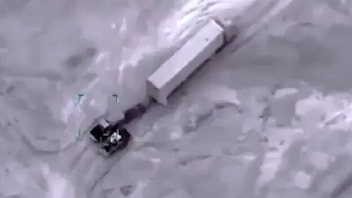 SİHA'lar hedeflere bomba yağdırdı: Hafter'in konvoyu böyle imha edildi