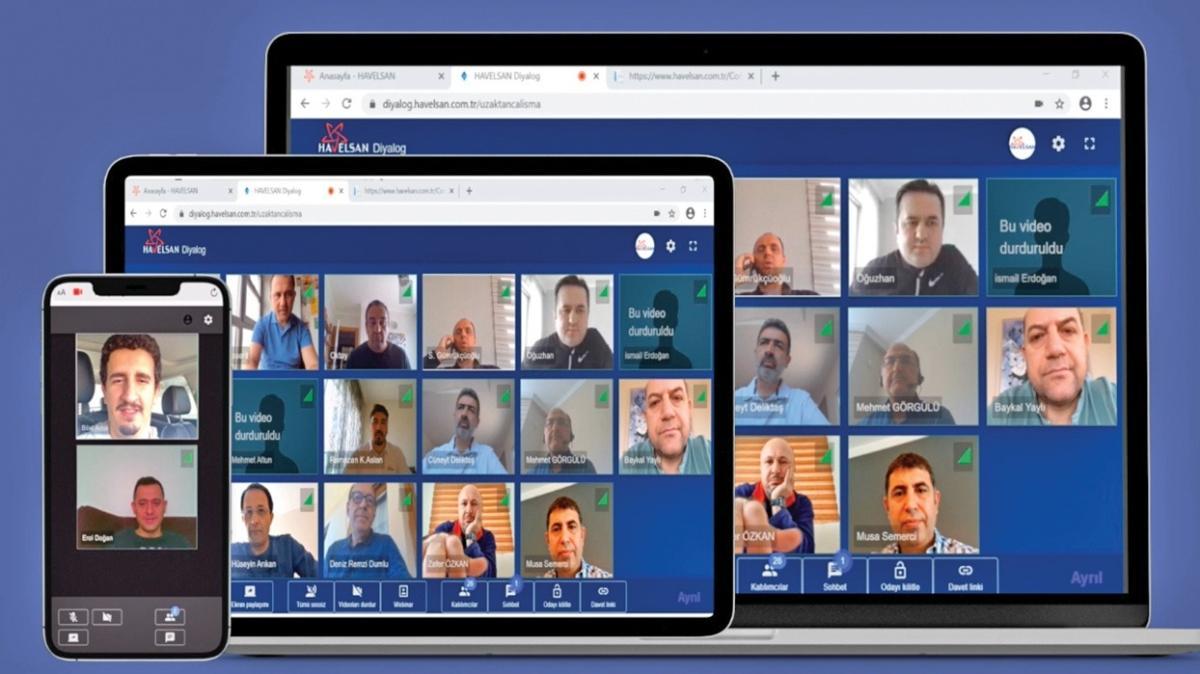 HAVELSAN'dan yerli Zoom! Video konferanslar artık yerli yazılımla