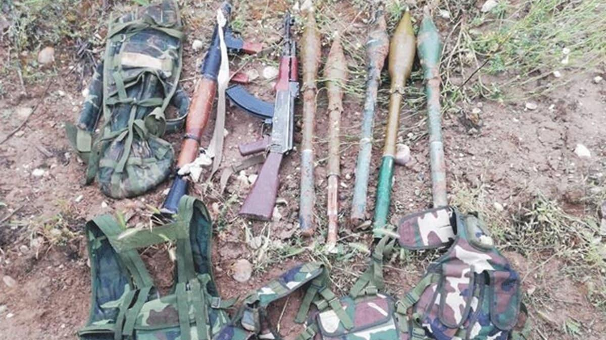 Barış Pınarı bölgesinde terör örgütü PKK/YPG'ye ait mühimmat ele geçirildi