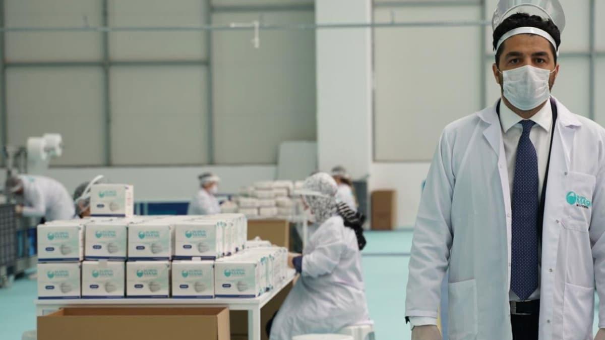 Dev projede üretim başladı, günde 1,2 milyon maskeyi hibe edecek