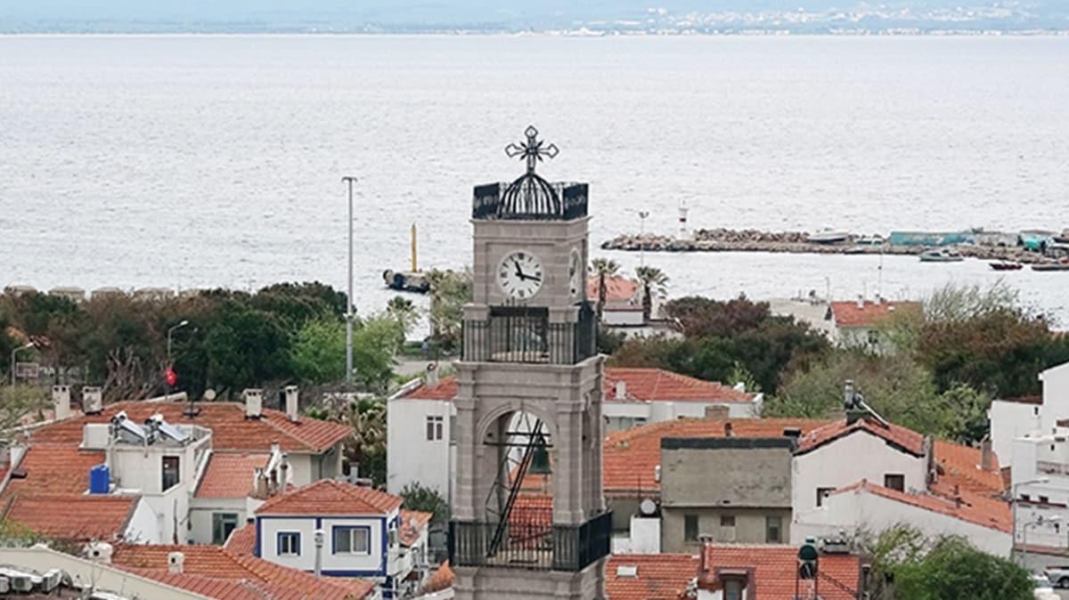 151 yıllık Kimisis Teodoku Rum Ortodoks Kilisesi'nin çan kulesi restore edildi