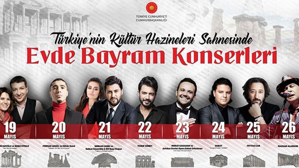 Cumhurbaşkanlığı'ndan 'Evde Bayram Konserleri'