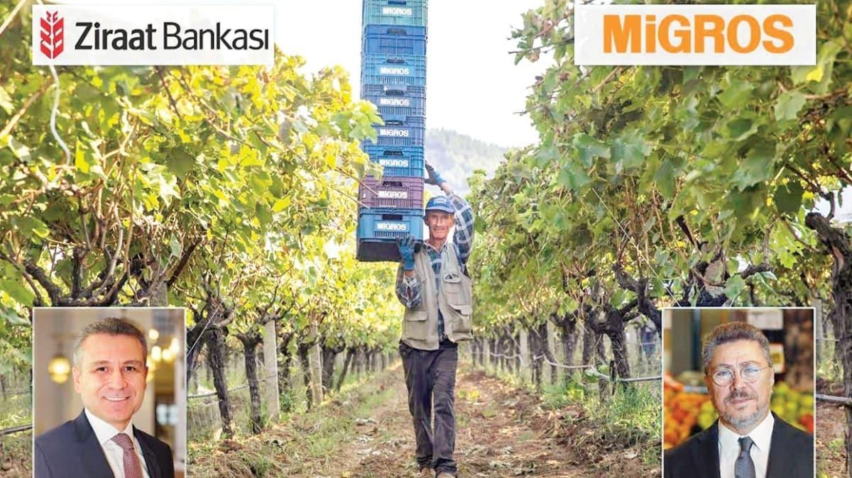 Ziraat Bankası ve Migros çiftçilere destek verecek