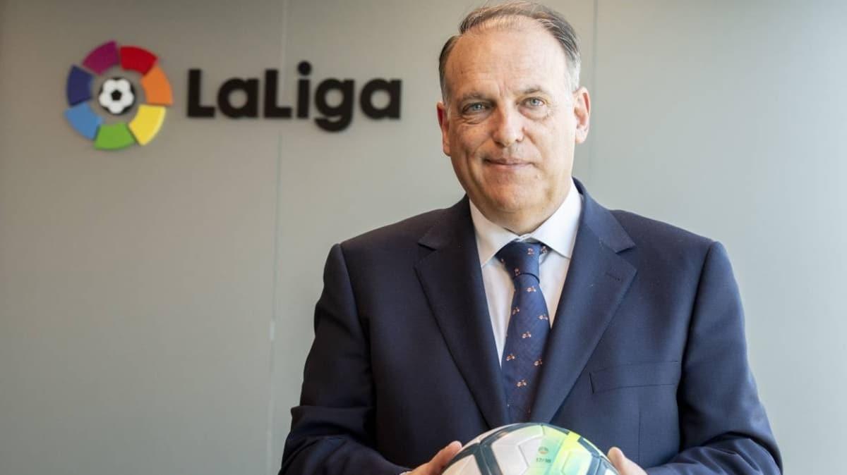 La Liga Başkanı Javier Tebas, ligin 12 Haziran'da başlayacağını duyurdu