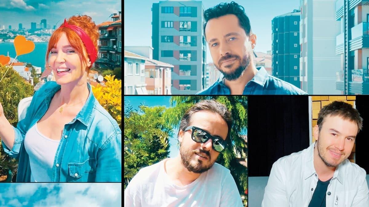 Bahadır Tatlıöz, Gülden, Mustafa Ceceli ve Aydın Kurtoğlu moral için buluştu