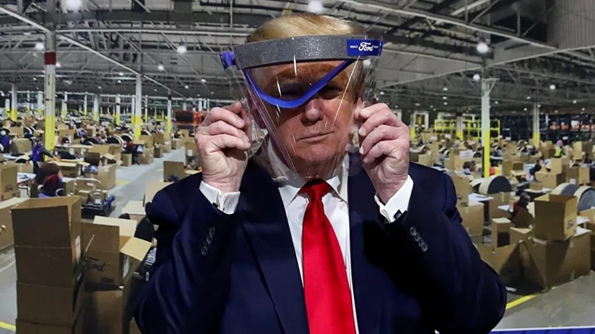 Trump ilk kez maske taktı! 'Basına bu zevki yaşatmak istemedim'