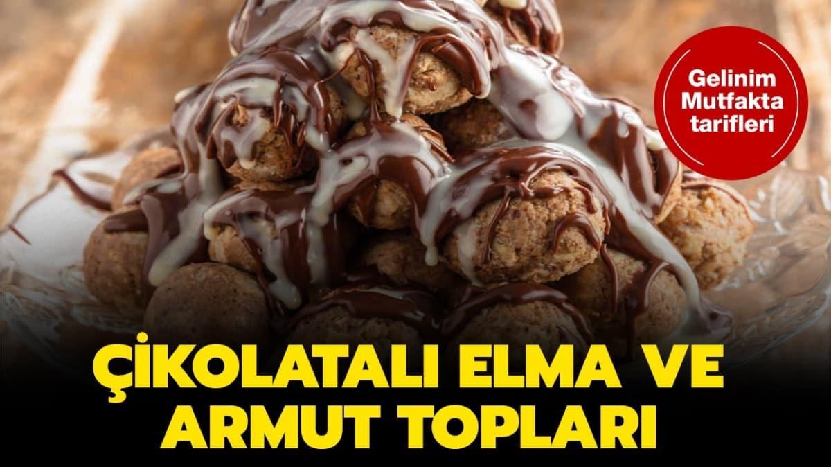 """Gelinim Mutfakta Çikolatalı elma ve armut topları tarifi! Çikolatalı elma ve armut topları nasıl yapılır"""""""